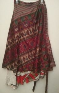Dresses & Skirts - Recycled Indian sari skirt